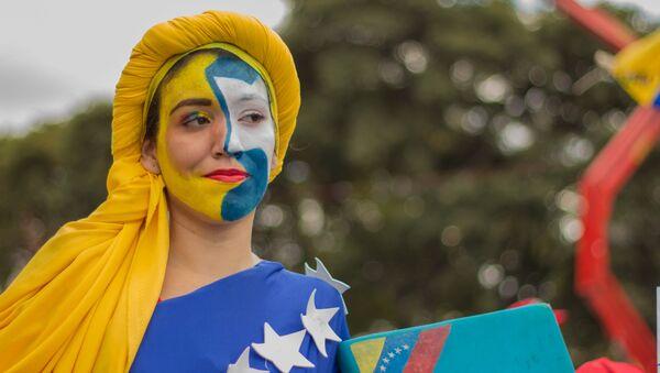 Una manifestación en apoyo a Nicolás Maduro en Caracas - Sputnik Mundo