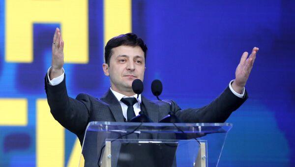 Volodímir Zelenski, candidato a la presidencia de Ucrania - Sputnik Mundo