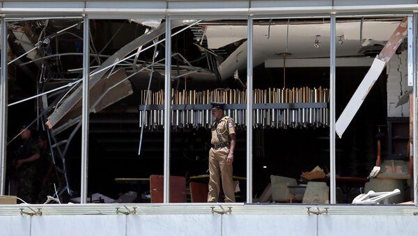 Lugar de la explosión en el hotel Shangri-La in Colombo, Sri Lanka - Sputnik Mundo