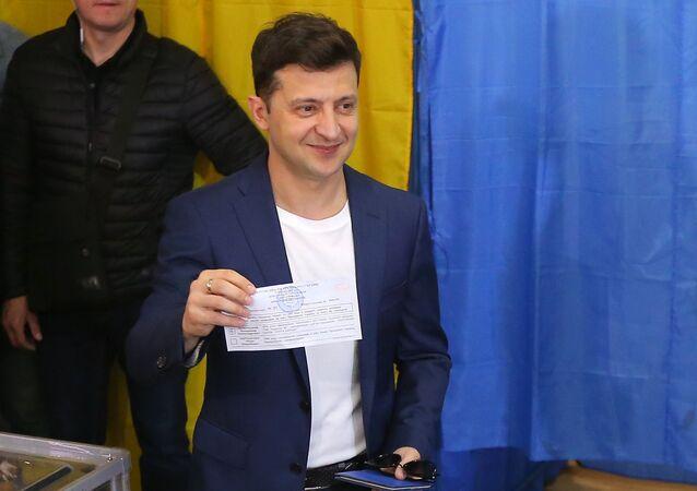 Volodímir Zelenski, ganador de las presidenciales en Ucrania
