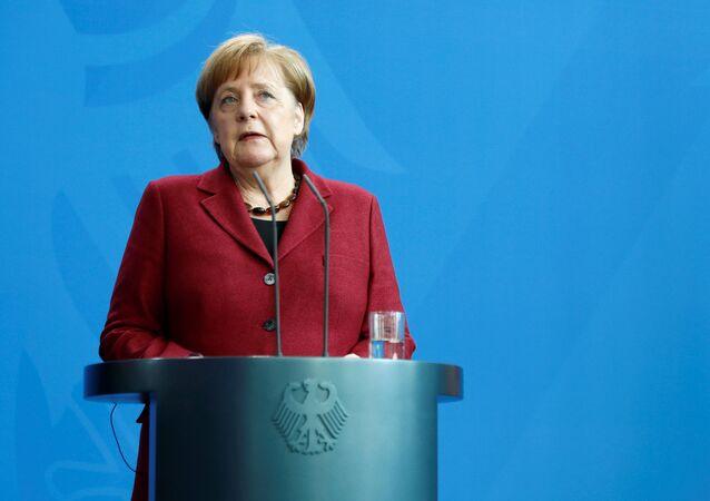 Angela Merkel, la canciller de Alemania (archivo)