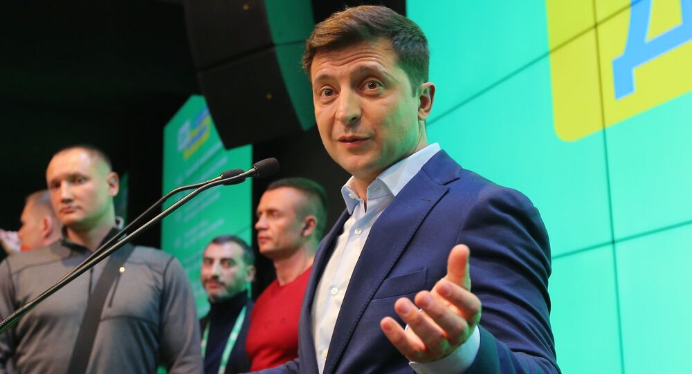 Volodímir Zelenski, ganador de las eelciones presidenciales en Ucrania