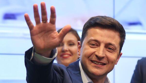 Volodímir Zelenski, ganador de las elecciones presidenciales en Ucrania - Sputnik Mundo