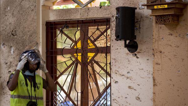 Una de las iglesias donde se produjeron explosiones en Sri Lanka - Sputnik Mundo