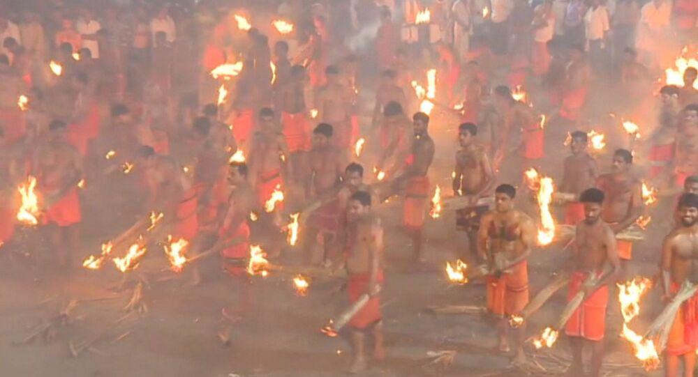 El festival celebrado en el estado de Karnataka, la India