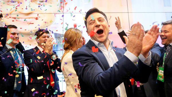Volodímir Zelenski, presidente electo de Ucrania - Sputnik Mundo