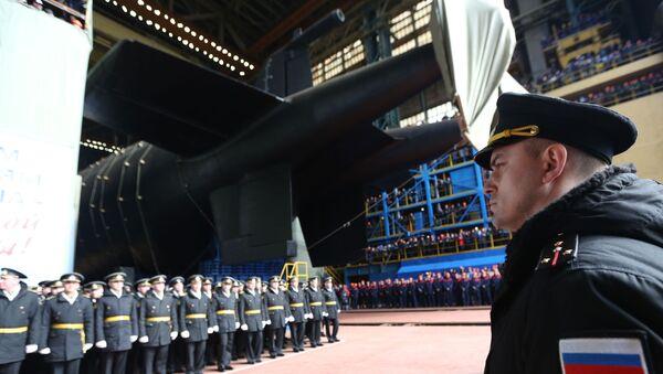 La botadura del submarino Belgorod - Sputnik Mundo