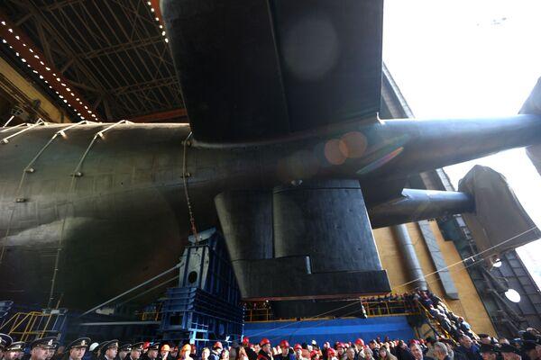 Solo algunas partes del submarino Belgorod fueron mostradas al público - Sputnik Mundo