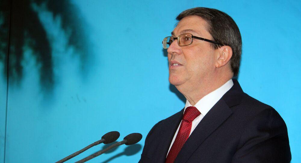 El canciller cubano, Bruno Rodríguez Parrilla
