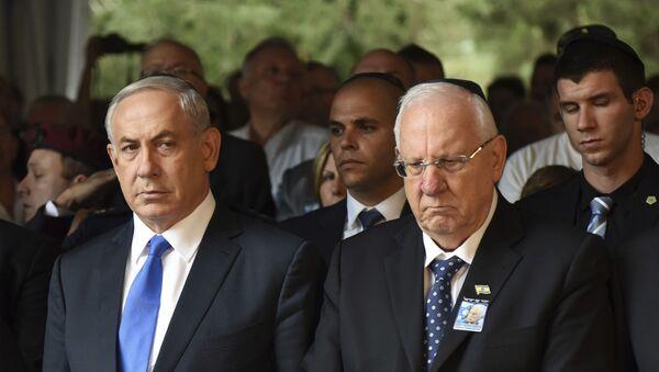 Primer ministro de Israel, Benjamín Netanyahu, y presidente de Israel, Reuven Rivlin (archivo) - Sputnik Mundo
