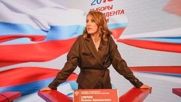 Ksenia Sobchak como candidata a la presidencia de Rusia - Sputnik Mundo