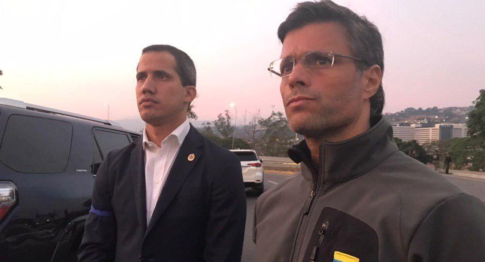 Los opositores venezolanos Juan Guaidó y Leopoldo López
