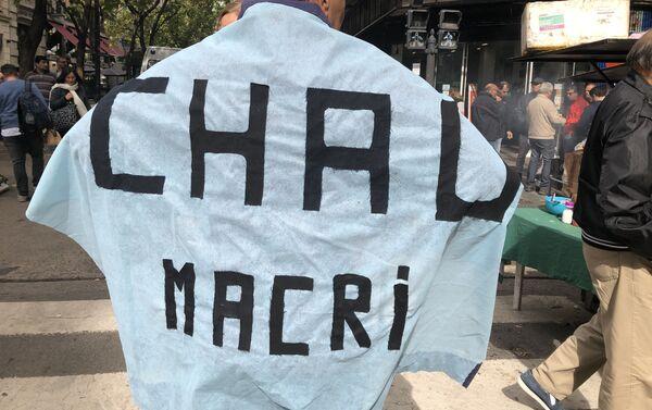 El presidente de Argentina, Mauricio Macri, es uno de los nombres más repetidos por los manifestantes en sus protestas - Sputnik Mundo