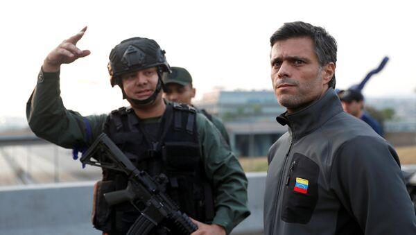 El líder opositor venezolano, Leopoldo López - Sputnik Mundo