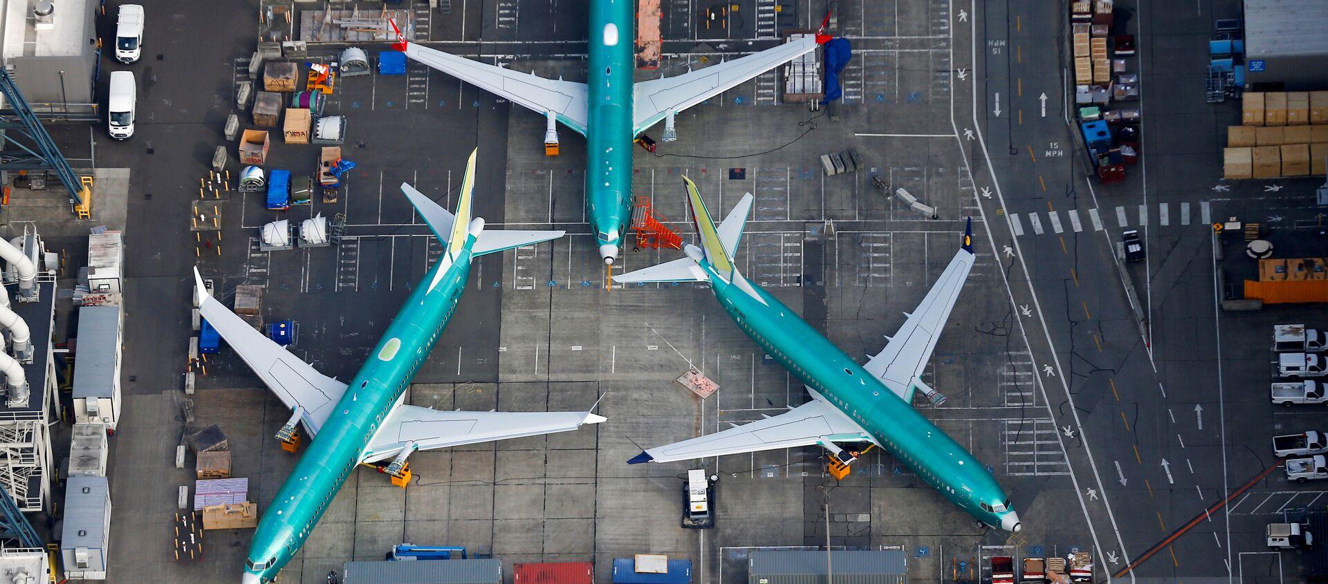 Aviones en la fábrica de Boeing de Renton, EEUU - Sputnik Mundo, 1920, 17.05.2019