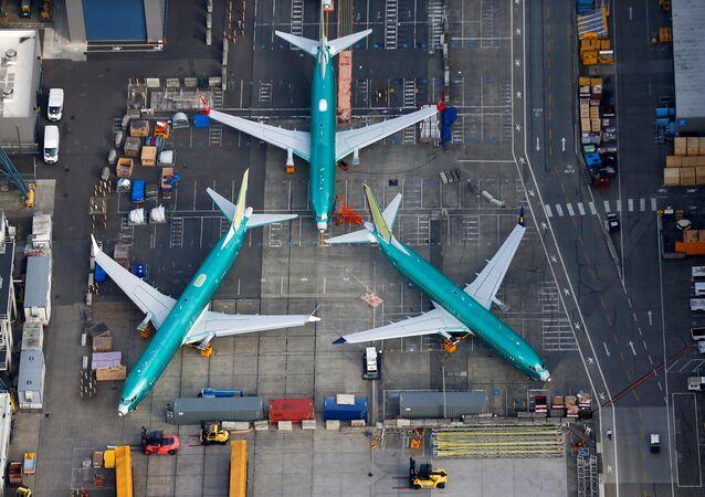 Aviones en la fábrica de Boeing de Renton, EEUU