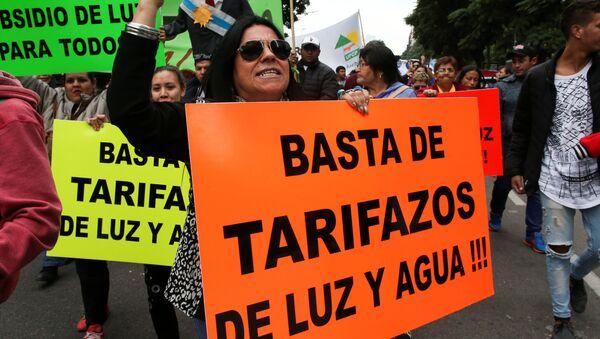 Una marcha en Argentina - Sputnik Mundo