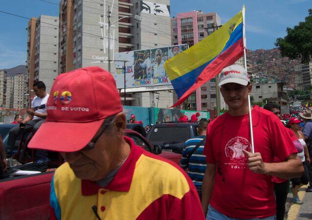 La manifestación a favor del Gobierno en El Valle, Caracas