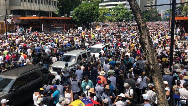 La marcha opositora en Caracas, Venezuela - Sputnik Mundo
