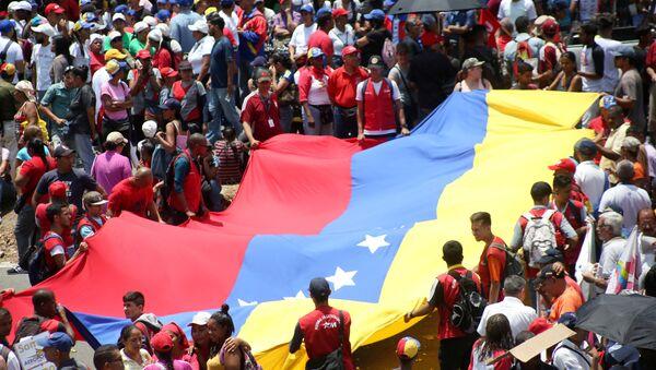 La manifestación a favor del Gobierno en Caracas - Sputnik Mundo