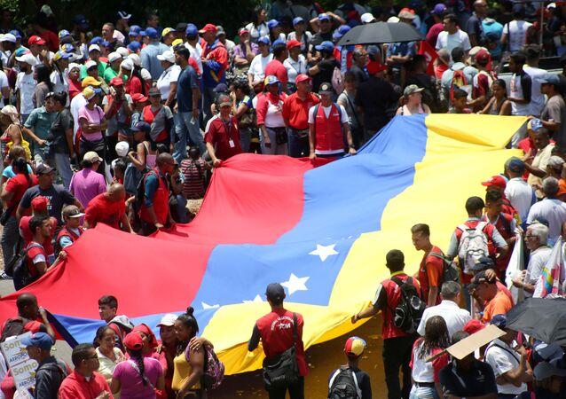 La bandera de Venezuela
