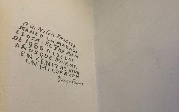 Las paredes de La Casa Azul hablan, con mensajes de Diego Rivera a Frida Kahlo - Sputnik Mundo