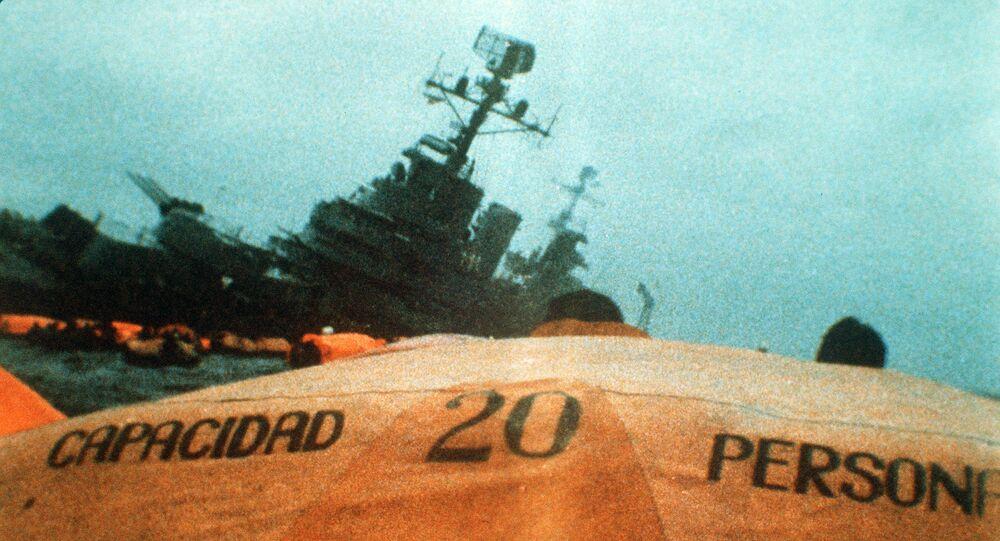 El hundimiento del buque General Belgrano durante la Guerra de Malvinas