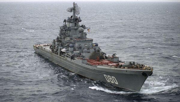Crucero nuclear ruso Almirante Najimov (archivo) - Sputnik Mundo