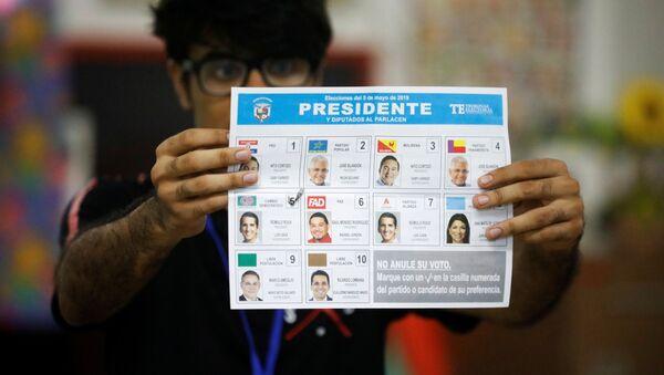 Una papeleta en las elecciones generales en Panamá - Sputnik Mundo