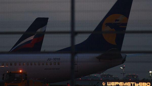 Aviones en el aeropuerto Sheremétievo de Moscú - Sputnik Mundo