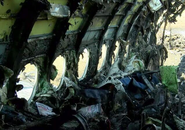 Interior del SuperJet 100 estrellado en Moscú