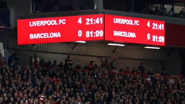 La victoria del club de fútbol Liverpool (4-0) sobre el Barcelona - Sputnik Mundo