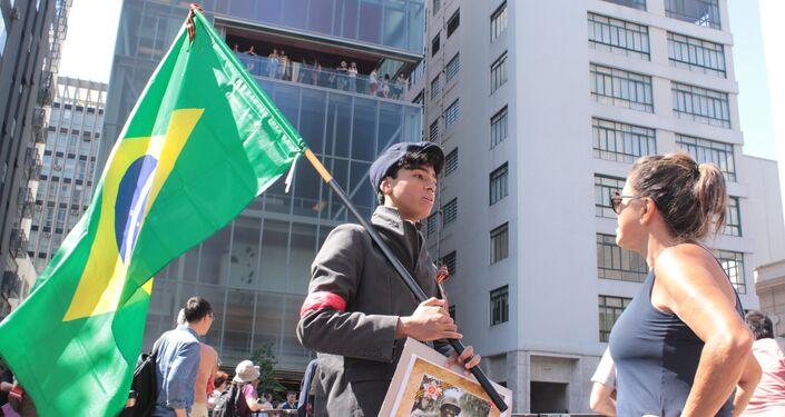 Desfile del Regimiento Inmortal en Sao Paolo, Brasil
