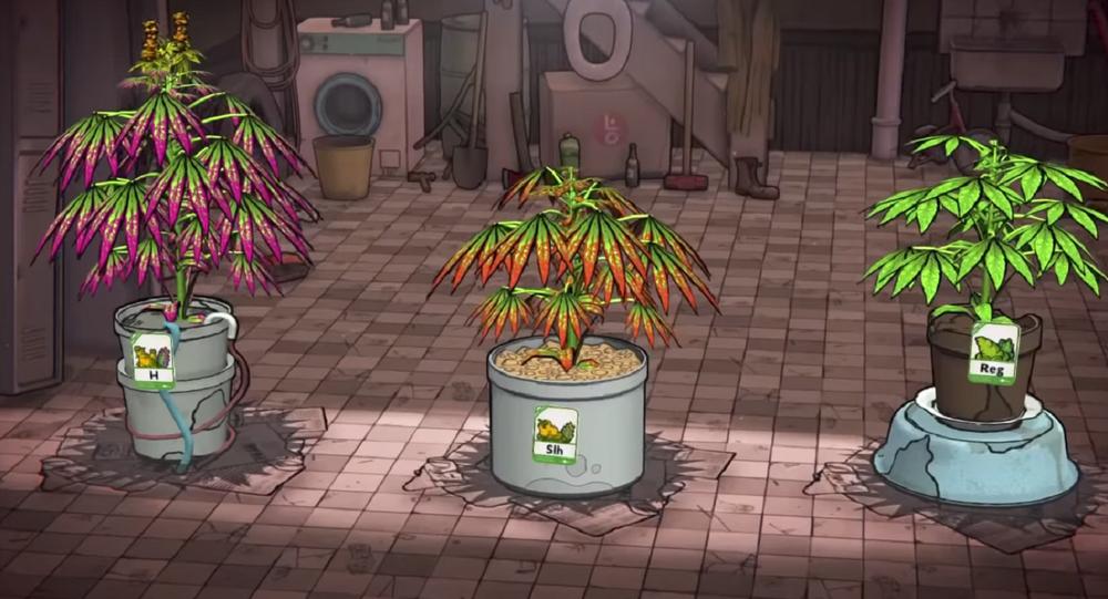 El videojuego Weedcraft Inc., captura de pantalla