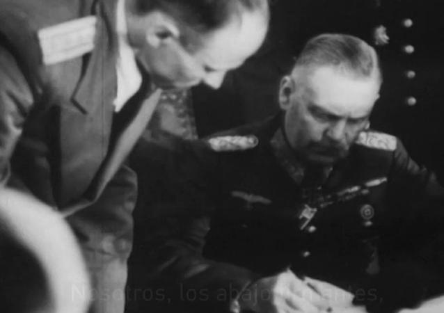 Así fue la firma de la Acta de capitulación alemana en la Segunda Guerra Mundial