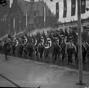 Un desfile militar nazi en Alemania en 1939