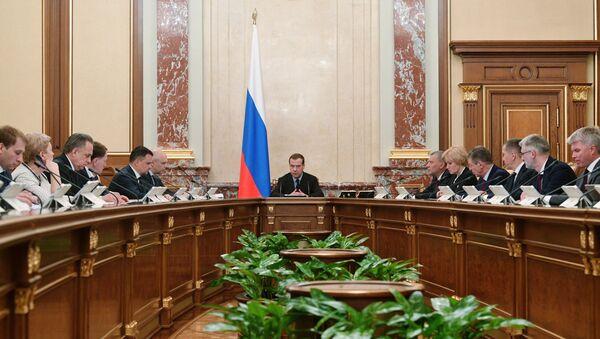 La reunión del Gobierno de Rusia del 7 de mayo de 2019 - Sputnik Mundo