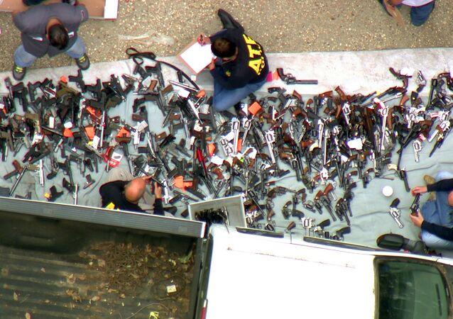 Las armas incautadas en Los Ángeles