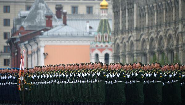 El desfile militar dedicado al 74 aniversario de la victoria en la Gran Guerra Patria - Sputnik Mundo