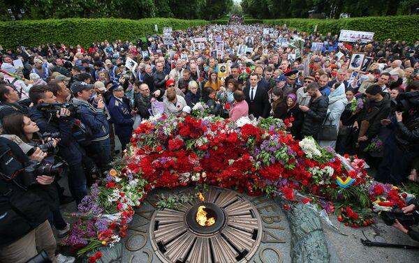 El Regimiento Inmortal en Kiev, Ucrania - Sputnik Mundo