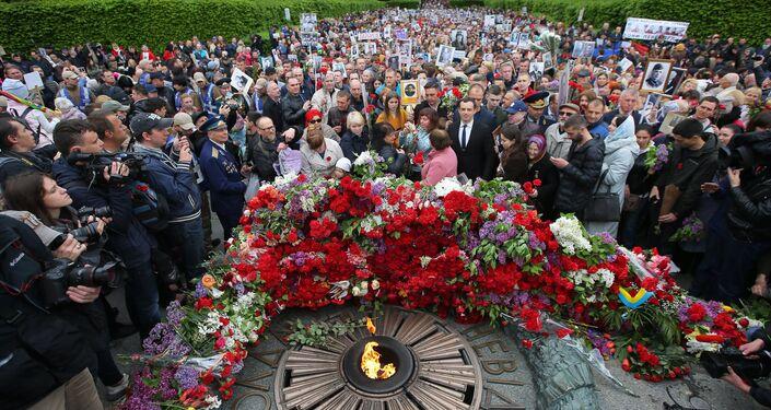 El Regimiento Inmortal en Kiev, Ucrania