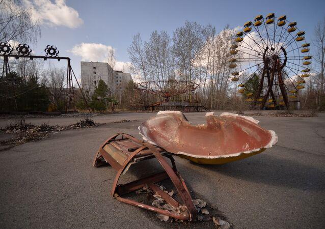 El parque de atracciones en Prípiat (Ucrania)