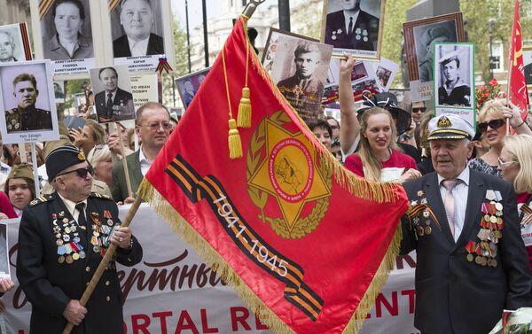 El Regimiento Inmortal en Londres, Reino Unido - Sputnik Mundo