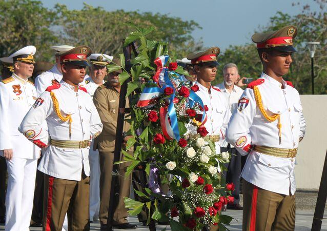 Celabración en La Habana del 74 aniversario del Día de la Victoria