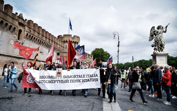 El Regimiento Inmortal en Roma, Italia - Sputnik Mundo