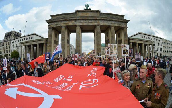 El Regimiento Inmortal en Berlín, Alemania - Sputnik Mundo