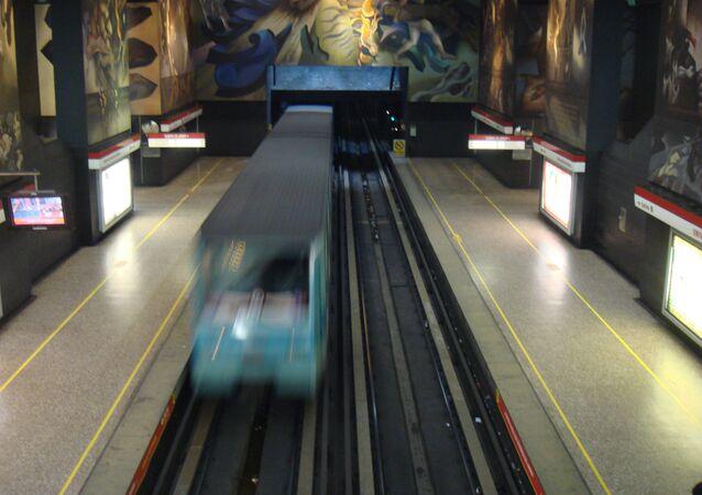 El metro de Santiago de Chile
