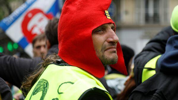 Protestas de los 'chalecos amarillos' (Archivo) - Sputnik Mundo
