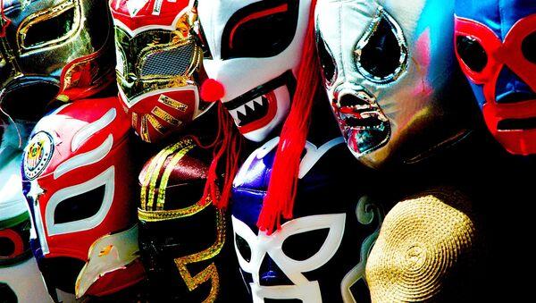 Máscaras de lucha libre mexicana (archivo) - Sputnik Mundo