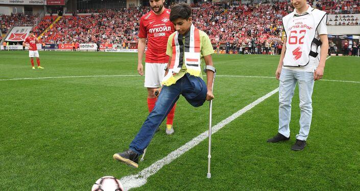Kasim Alkadim en el estadio el 12 de mayo